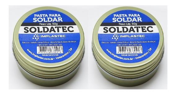 Kit 2 Pasta De Solda Fluxo Pasta Soldatec 50g Implastec