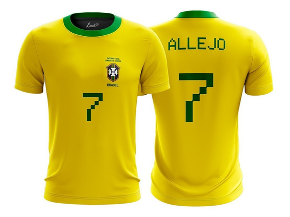 Camiseta Allejo Futebol Super Star Soccer Brasil Copa
