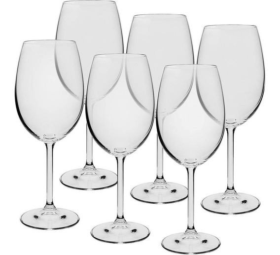 Jogo De 6 Taças Cristal Bohemia Para Vinho Tinto 450ml