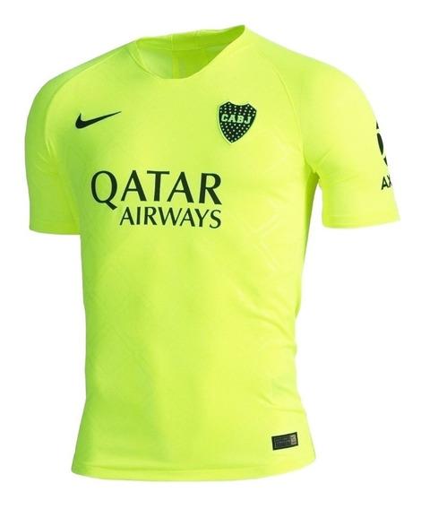 Camiseta Boca Nike Breathe Stadium Original 2019 Dri Ft Fluo