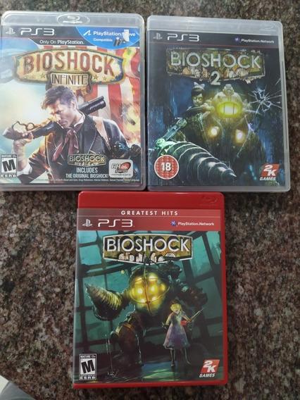 Trilogia Bioshock Playstation 3 Mídia Física Seminovos