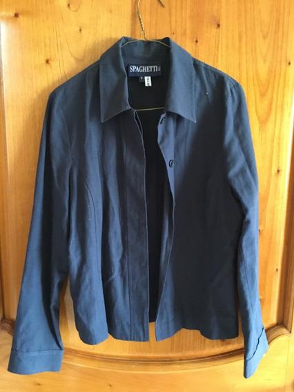 Traje Casual Azul Para Dama Con Pantalón Y Saco Spaguetti