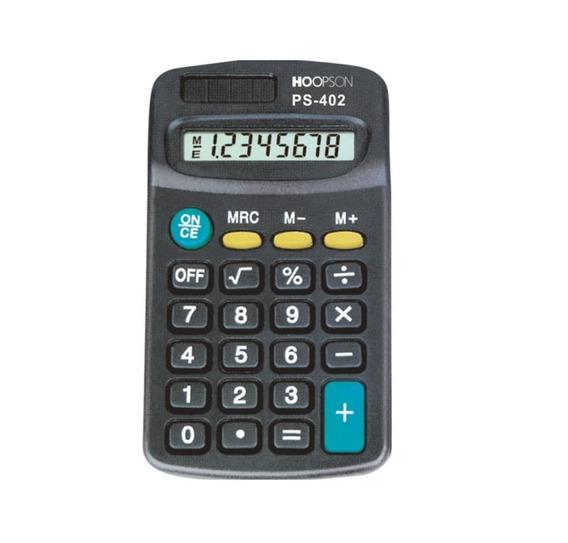Calculadora De Bolso Preta Ps-402 Hoopson