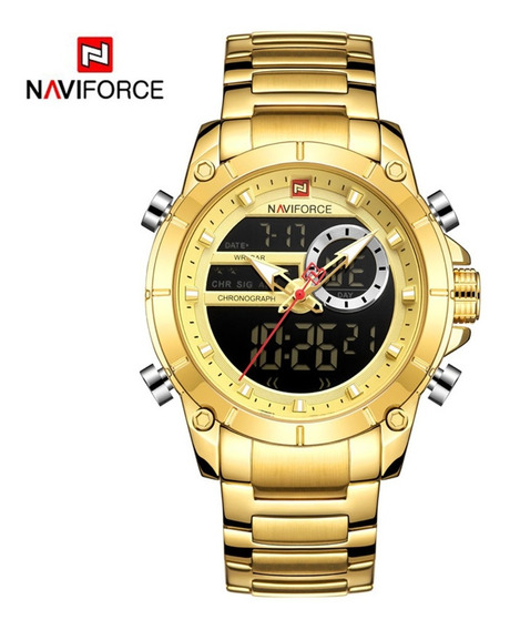 Reloj Naviforce Hombre Militar Original Cronografo Digital