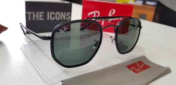 Óculos De Sol Ray-ban Marshal Rb3648m Preto 002/r5 Original