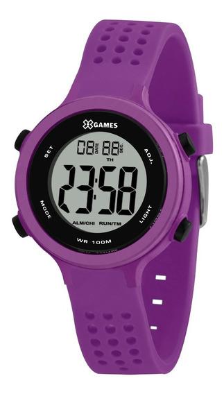 Relógio X-games Feminino Digital Xfppd073 Bxux Roxo