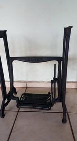 Pe De Maquina Elgin Antigo Ferro Fundido (only Wood)