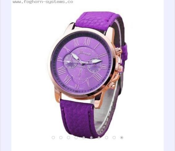10 Relojes Mujer Mayoreo Geneva Clasico + 2 Pilas Por Reloj