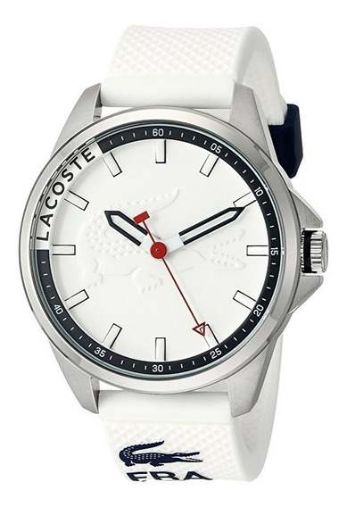 Reloj Lacoste Capbreton Silicón Blanco Acero Hombre 2010841