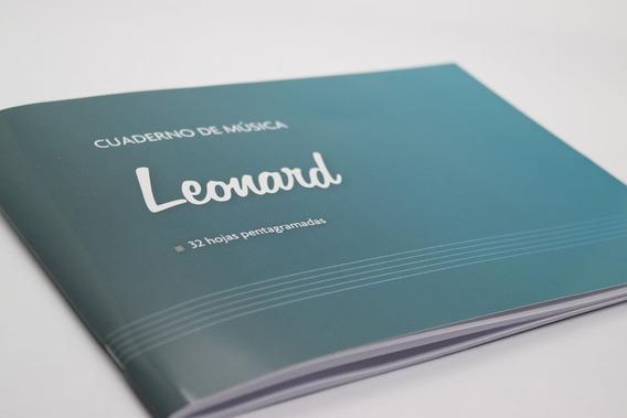 Leonard Lnd32 Cuaderno Pentagramado De 32 Hojas