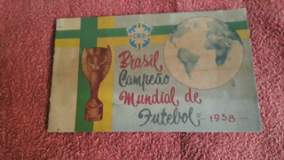 Álbum De Figurinhas Da Copa Do Mundo De 1958. Original.