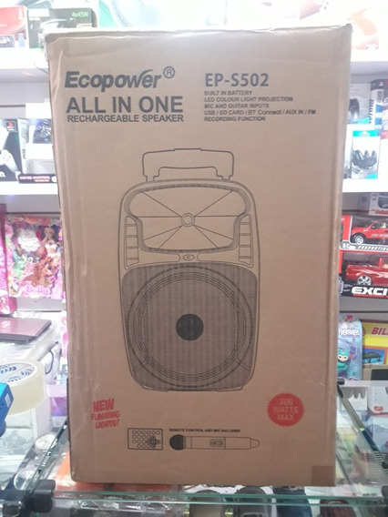 Caixa De Som Amplificada 8 Ecopower Bluetooth Microfone