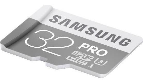 Microsdhc Samsung 32bg Pro + Sd Adapter Fpr Micro Sd