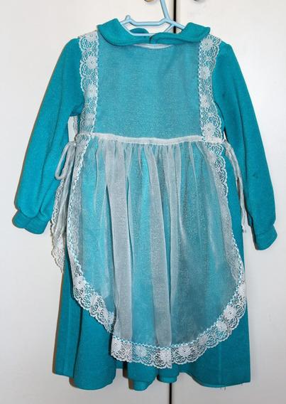 Vestido Infantil Com Avental