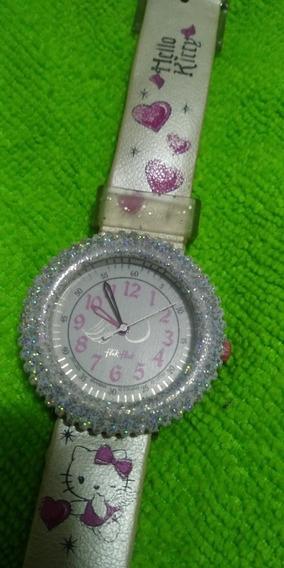 Relógio Hello Kitty Swiss Made Caixa De Alumínio Máquina Eta
