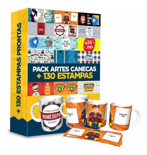 Artes Super Pack 130 Estampas Sublimação Caneca Dia Dos Pais