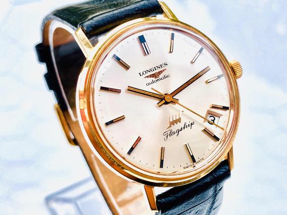 Relógio De Pulso Suíço Longines Flagship Cal 431 Ouro 18k