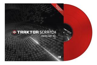 Native Instruments Traktor Scratch Control Vinyl Mk2 Rojo