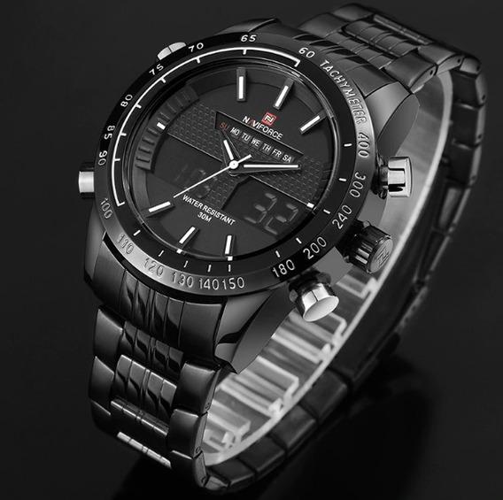 Relógio Masculino Pulso Naviforce 9024 Inox Original