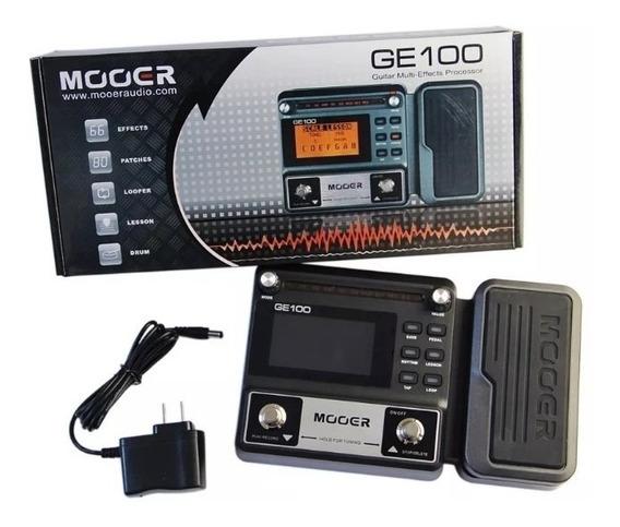 Pedaleira Para Guitarra Mooer Ge-100, Com Fonte Bivolt