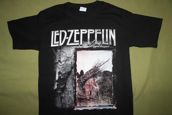 Gusanobass Playera Rock Metal Led Zeppelin 4 Hard 2 X L
