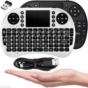 Mini Teclado Wireless Smart Tv Controle Branco/preto