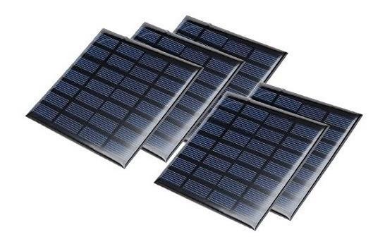 Uxcell 5pcs 7v 120ma Poly Mini Módulo De Panel De Célula Sol