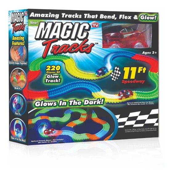 Magic Tracks + Auto Luminoso - Tevecompras Pista De Carreras
