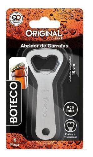 Imagem 1 de 2 de Abridor De Garrafas 10 Cm Boteco Aço Inox Original