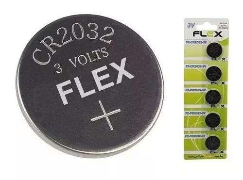 Bateria Cr2032 50 Unidades Em 10 Cartelas Pilha Cr-2032 Flex
