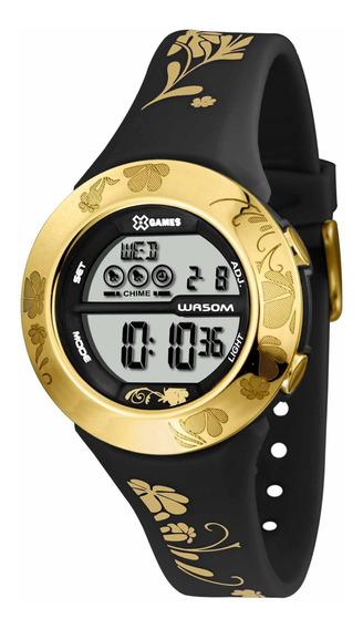 Relógio Xgames Xfppd032 Bxpx Unissex Preto Dourado- Refinado