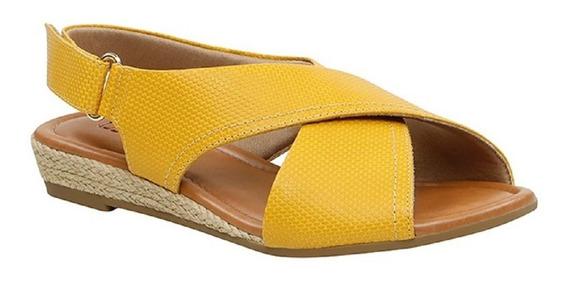 Sandalia Usaflex Aramado Cab Amarelo Aa2303
