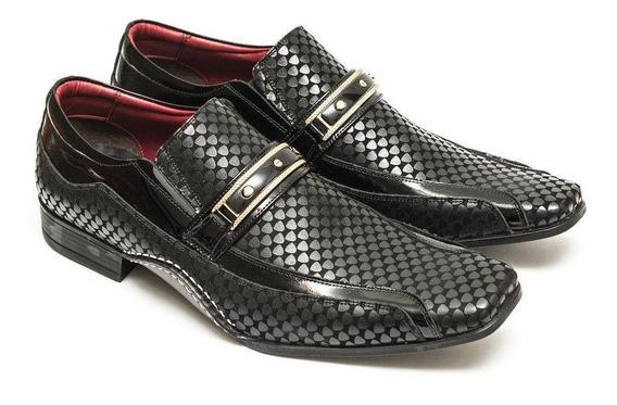 Sapato Social Versales Masculino Couro Bico Fino Macio