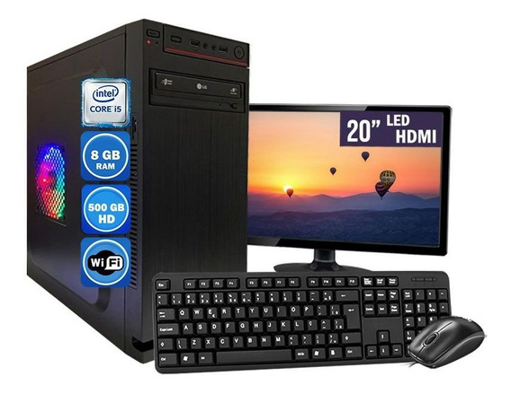 Computador Pc Completo Intel Core I5 8gb Hd 500gb