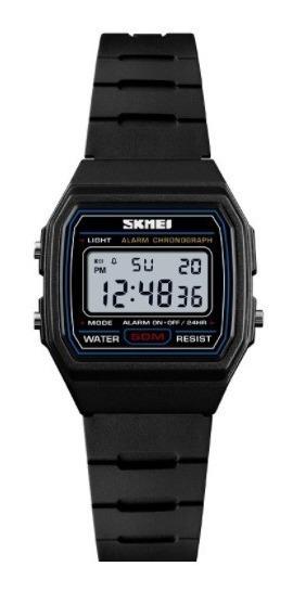 Relógio Feminino Digital Skmei 1460 Retro Quadrado Pequeno