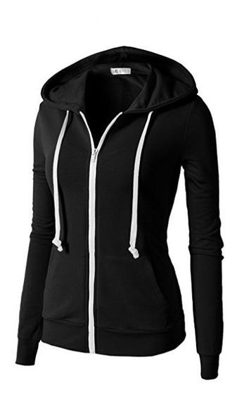 Pack X3 Campera Hoodie Capucha Slim Fit Mujer Algodon