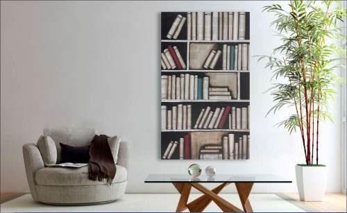 Imagen 1 de 4 de Cuadro Decorativo 1 Pieza - Library Këssa Muebles