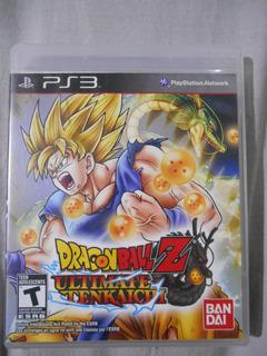 Dragon Ball Z Ultimate Tenkaichi Ps3 Con Manual Juego Dbz
