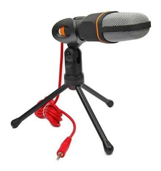 Microfone Condensador Com Tripé Para Pc E Notebook