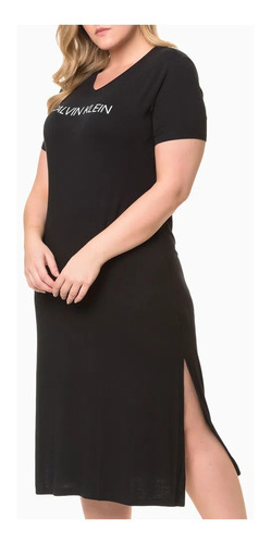 Vestido Longo Calvin Klein Original Plus Size M.curta Don141