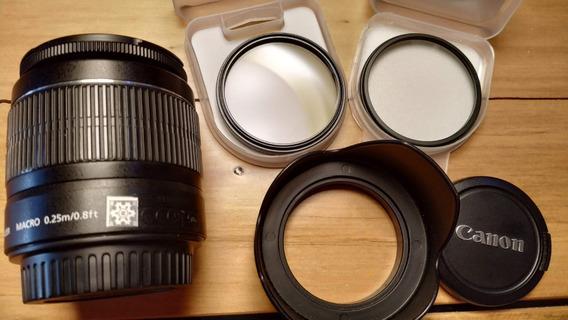 Lente Canon Ef-s 18-55mm F/3.5-5.6 Is Ii + Parasol + Filtros