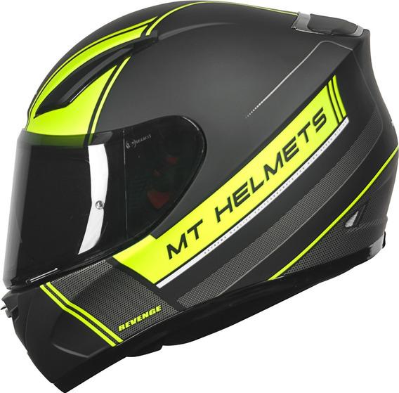 Capacete Moto Mt Revenge Naked 5 Estrela Sharp + Nfe