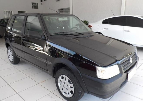 Fiat Uno 1.0 Mpi Mille Fire Preto 8v Flex 4p Manual 2008