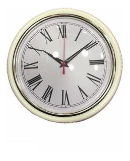 Reloj Pared Chapa Vintage Color 23 Cm Deco Elegan Piu Online