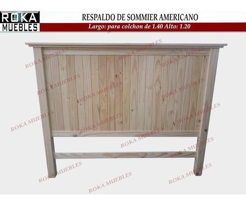 Imagen 1 de 3 de Respaldo De Sommier Americano Reforzado Pino Roka