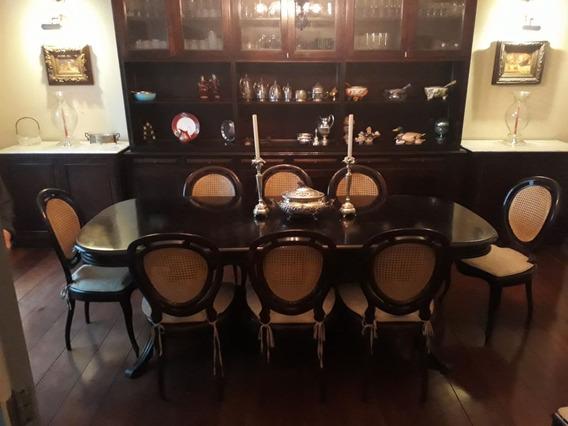 Cadeira Medalhão Palhinha + Mesa Sala De Jantar