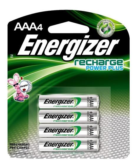 Energizer Nh12 Nimh 1.2v Aaa 800mah 4 Baterias Recargables