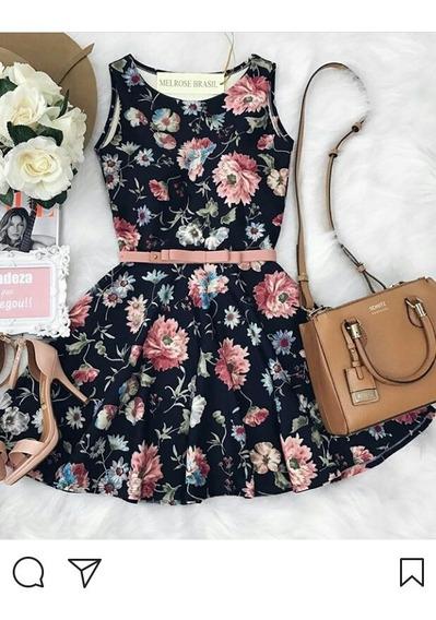 Vestido Floral Gode Rodadinho Boneca Plus Size Elastano