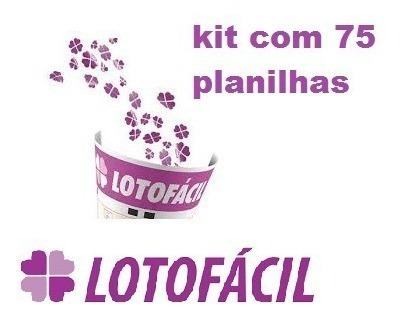 Lotofácil - Pacote Com 75 Planilhas + [brindes]