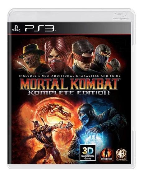 Mortal Kombat Komplete Edition Ps3 Mídia Física
